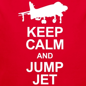 Keep Calm and Jump Jet - Longlseeve Baby Bodysuit