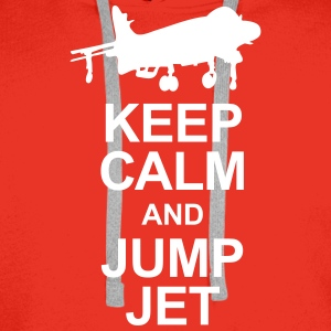 Keep Calm and Jump Jet Hoodies & Sweatshirts - Men's Premium Hoodie