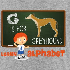 G is for Greyhound - male Magliette - Maglietta Premium per bambini