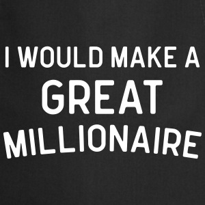 A Great Millionaire Funny Quote  Aprons - Cooking Apron