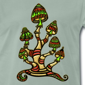 Magic mushrooms, psychedelische Pilze, Wunderland  - Men's Premium T-Shirt