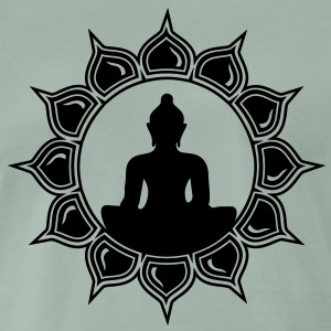 Buddha in Lotus  - Meditation T-shirts - Herre premium T-shirt