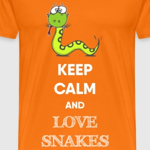 KEEP CALM AND SNAKE T-Shirts - Männer Premium T-Shirt