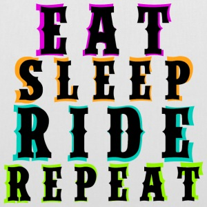 Eat Sleep Ride Repeat - Black - Stoffbeutel