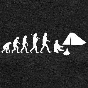 Evolution of camping T-Shirts - Frauen Premium T-Shirt