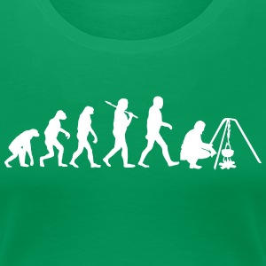 Evolution of camping2 T-Shirts - Frauen Premium T-Shirt