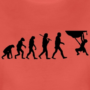 Evolution of klettern T-Shirts - Frauen Premium T-Shirt