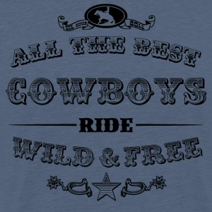 Cowboys Black - Männer Premium T-Shirt