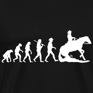 Evolution Mens Western Riding - Männer Premium T-Shirt