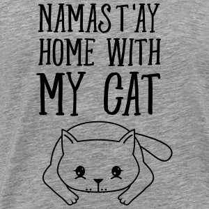 Namast'ay Home With My Cat Tee shirts - T-shirt Premium Homme