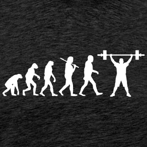 Evolution of bodybuilding T-Shirts - Männer Premium T-Shirt