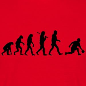 Evolution of kegeln4 T-Shirts - Männer T-Shirt