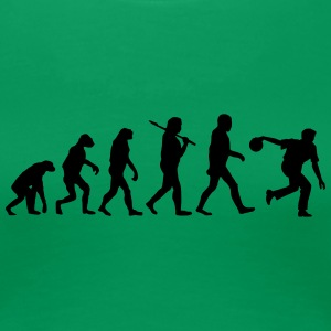 Evolution of kegeln3 T-Shirts - Frauen Premium T-Shirt
