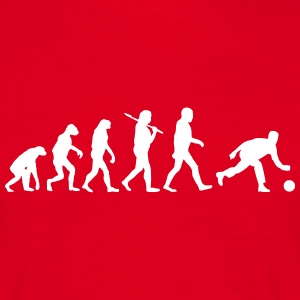Evolution of kegeln T-Shirts - Männer T-Shirt