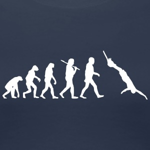 Evolution of bungeejumping T-Shirts - Frauen Premium T-Shirt