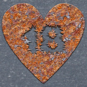 Rust-heart - 18 years T-Shirts - Men's V-Neck T-Shirt