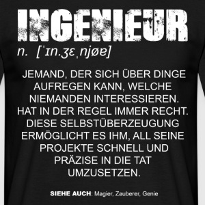 Ingenieur Definition DE T-Shirts - Männer T-Shirt
