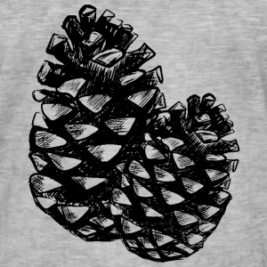 Two pine cones T-Shirts - Men's Vintage T-Shirt