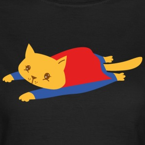 Geek | Superhero Cat | Funny  Illustration T-Shirts - Women's T-Shirt