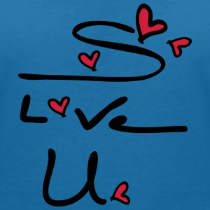 s love u typo  Women's V-Neck T-Shirt - Women's V-Neck T-Shirt