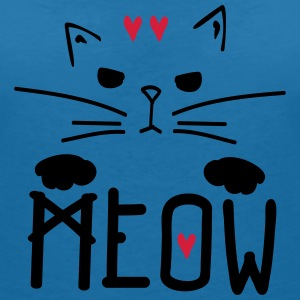 MEOW TYPO WITH CAT  Women's V-Neck T-Shirt - Women's V-Neck T-Shirt