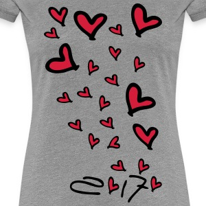 2017 growing love hearts Women's Premium T-Shirt - Women's Premium T-Shirt