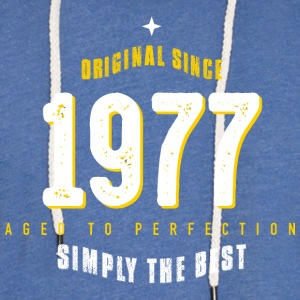 original since 1977 simply the best 40th birthday - Leichtes Kapuzensweatshirt Unisex