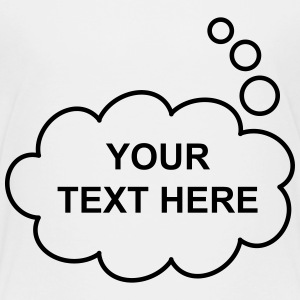 Text Balloon (thought 1 col) Shirts - Kids' Premium T-Shirt