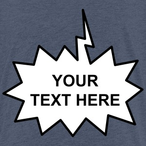 Text Balloon (shout 2 colours) Shirts - Teenage Premium T-Shirt