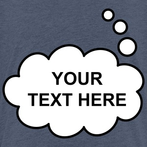 Text Balloon (thought 2 colours) Shirts - Teenage Premium T-Shirt