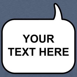 Text Balloon (square 2 colours) Shirts - Teenage Premium T-Shirt