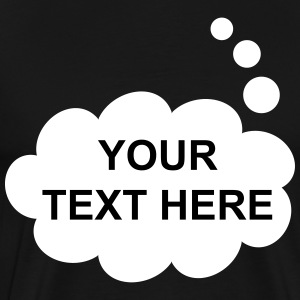Text Balloon (thought inverted) T-Shirts - Men's Premium T-Shirt