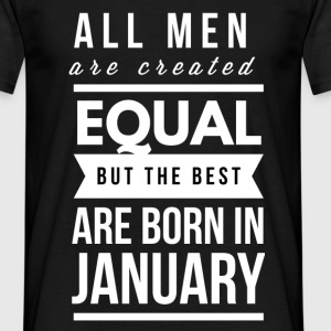 January birthday design for men and boys T-Shirts - Men's T-Shirt