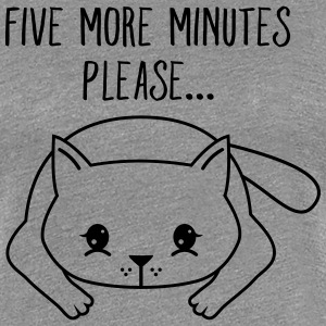 Lazy Cat | Five More Minutes Please... Tee shirts - T-shirt Premium Femme