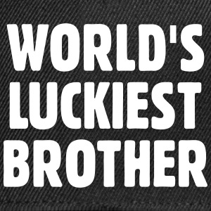 World's Luckiest Brother Caps & Hats - Snapback Cap