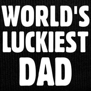 World's Luckiest Dad Caps & Hats - Winter Hat