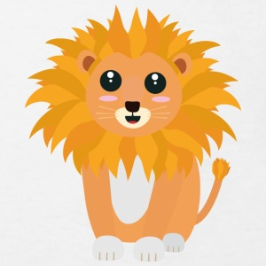 Cute kawaii lion Tee shirts - T-shirt Bio Enfant