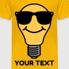 Lightbulb with sunglasses Shirts - Kids' Premium T-Shirt