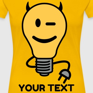 Devil Lightbulb (plug tail) T-Shirts - Women's Premium T-Shirt