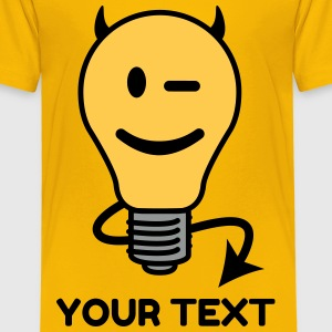 Devil Lightbulb Shirts - Kids' Premium T-Shirt