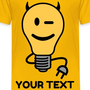 Devil Lightbulb (plug tail) Shirts - Kids' Premium T-Shirt