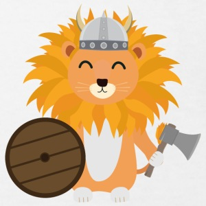 Lion Viking helmet Shirts - Kids' Organic T-shirt