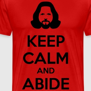 keep calm and abide T-Shirts - Men's Premium T-Shirt