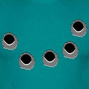 Holes of gun shots T-Shirts - Men's T-Shirt