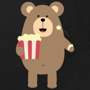 Brown bear eat popcorn Shirts - Kids' Organic T-shirt