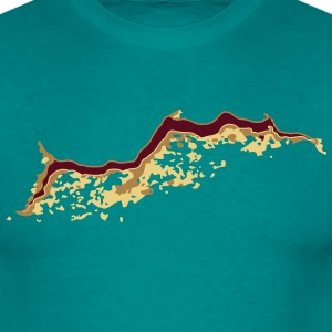 Hole crack split T-Shirts - Men's T-Shirt