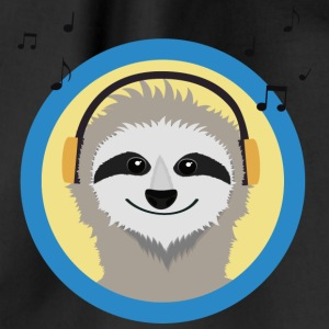 Cool sloth is music listen Bags & Backpacks - Drawstring Bag