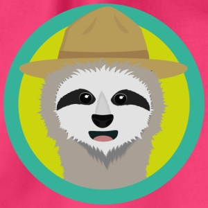 Sloth with Ranger Hat Bags & Backpacks - Drawstring Bag