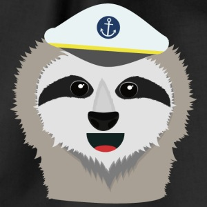 Captain sloth with Hat Bags & Backpacks - Drawstring Bag