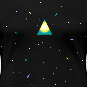 Triangle and space T-shirts - Dame premium T-shirt